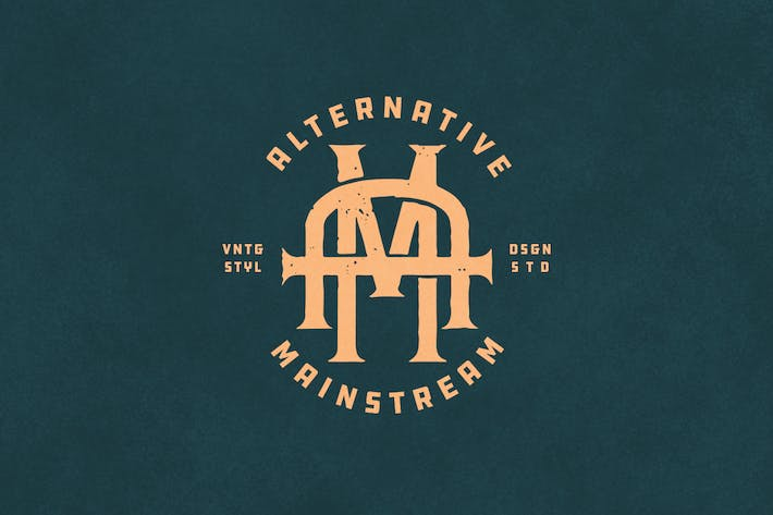 Thumbnail for AM Vintage Monogram Logo