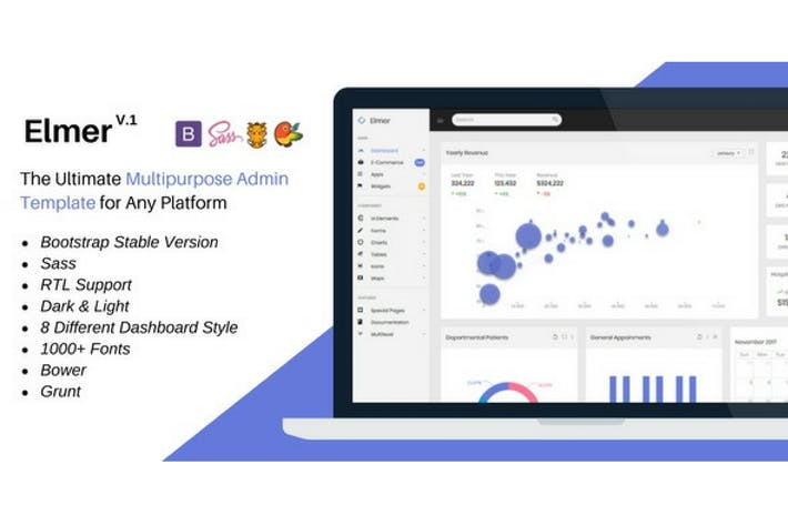 Thumbnail for Elmer - Multipurpose Bootstrap Admin Dashboard