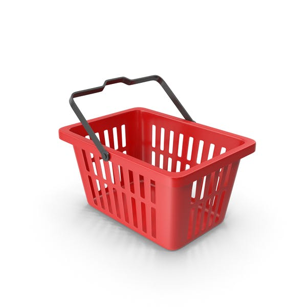 Thumbnail for Plastic Shopping Basket Red