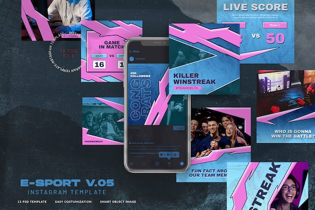 eSport & Gaming Instagram Template V.05 - product preview 0