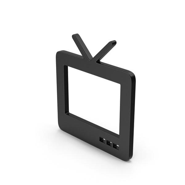 Черный символ ТВ