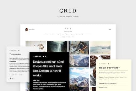 Grid - Responsive Tumblr Tema