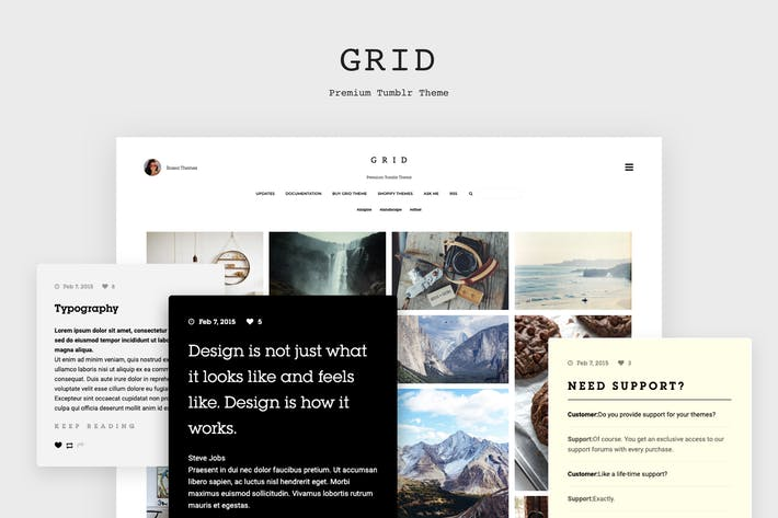 Thumbnail for Grid - Responsive Tumblr Theme