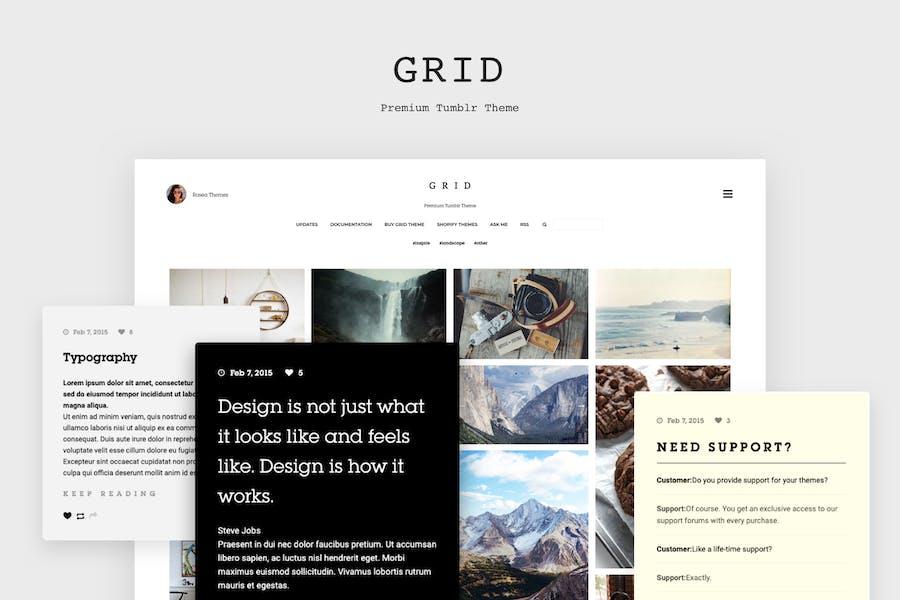 Grid - Responsive Tumblr Theme