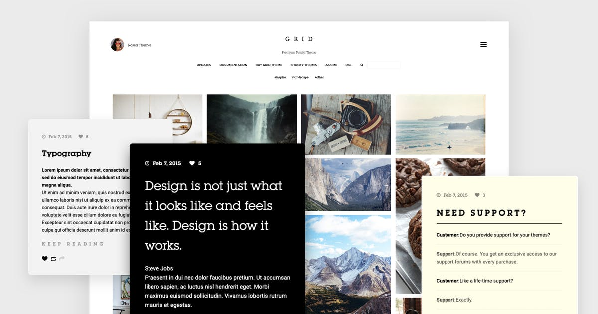 Download Grid - Responsive Tumblr Theme by roseathemes