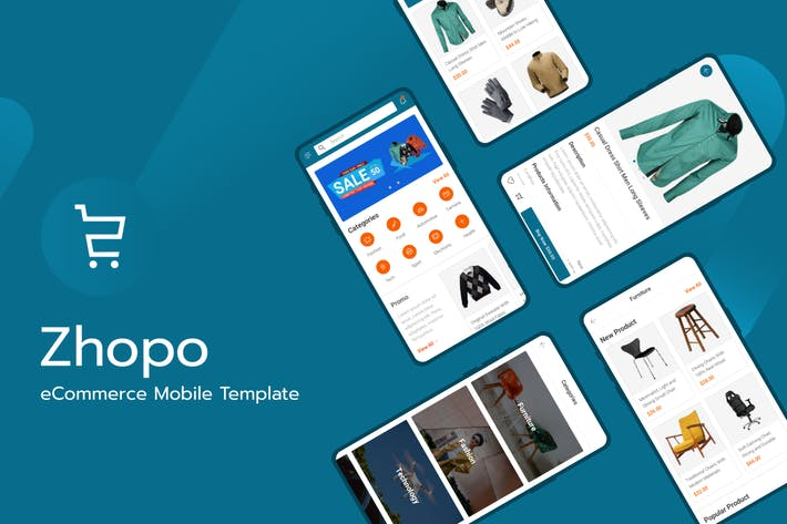 Cover Image For Zhopo - eCommerce Mobile Template