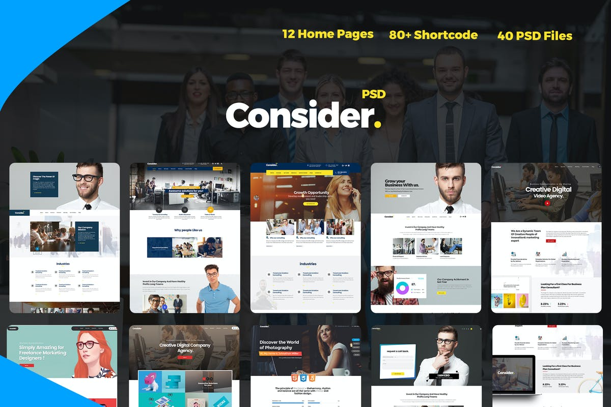 Download Consider - Consulting,Finance, Business Agency PSD by UserThemes by Unknow
