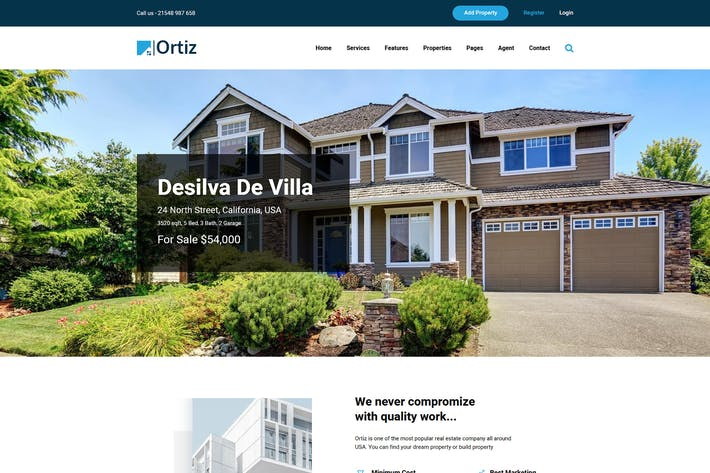 Thumbnail for Ortiz - Real Estate HTML5 Template