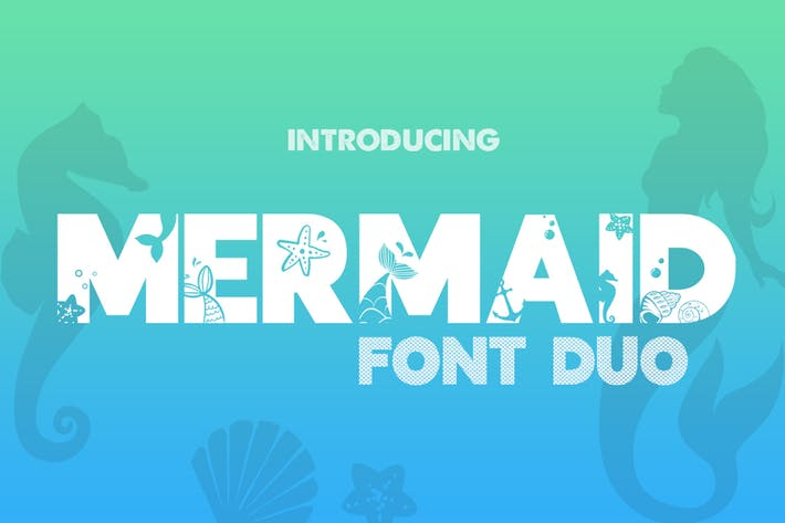 Thumbnail for Mermaid Font Duo Negro