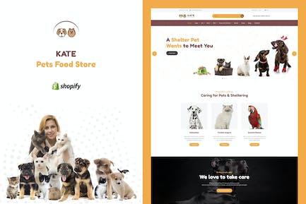 Kate - Dog & Pets Food Store Shopify Theme