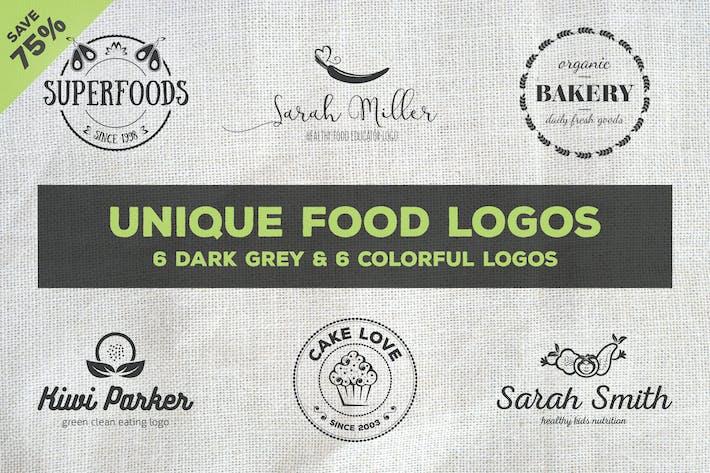 Thumbnail for Unique Food Logos – Bundle