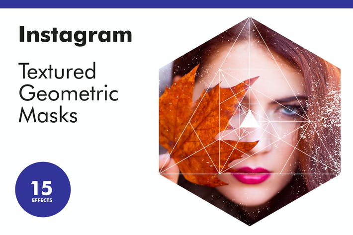 Thumbnail for Instagram Textured Geometric Masks
