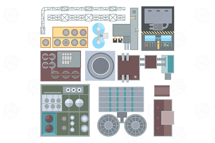 Thumbnail for Industrial buildings elements - set of elements