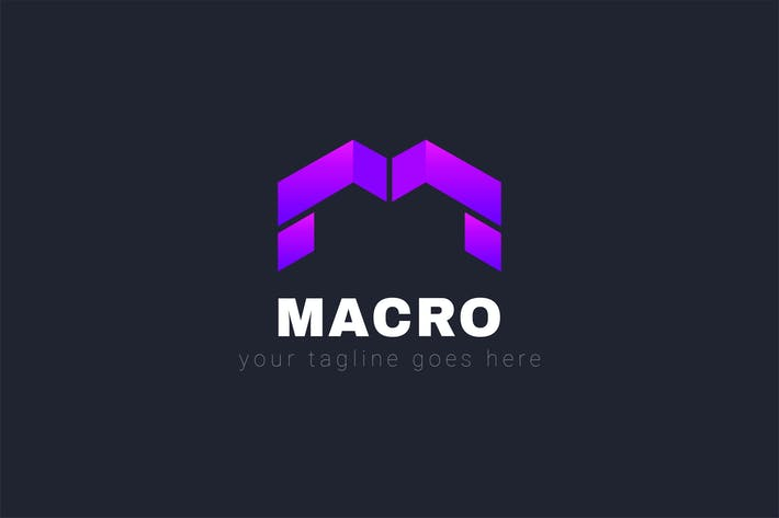 Thumbnail for Macro - M Letter Logo Template