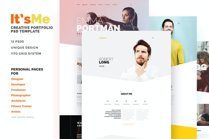 Thumbnail for It'sMe - Creative Portfolio PSD Template