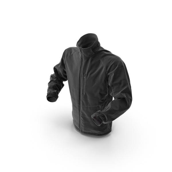 Male Black Hi Tech Winter Jacket