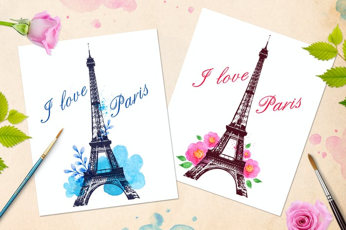 Thumbnail for Romantic Background with Paris