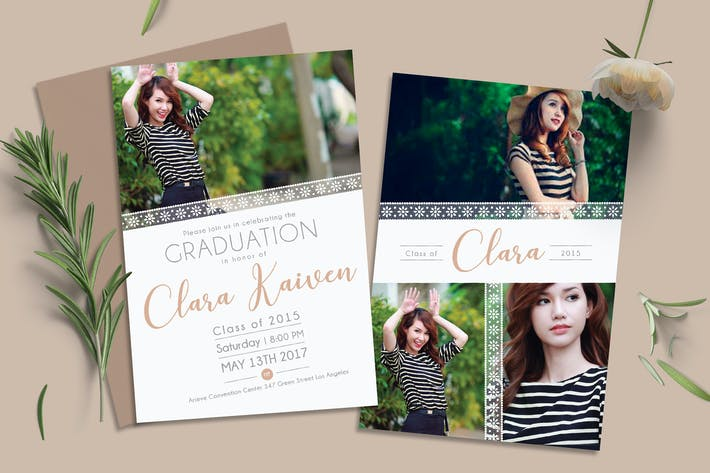 Thumbnail for Lace Graduation Invitation