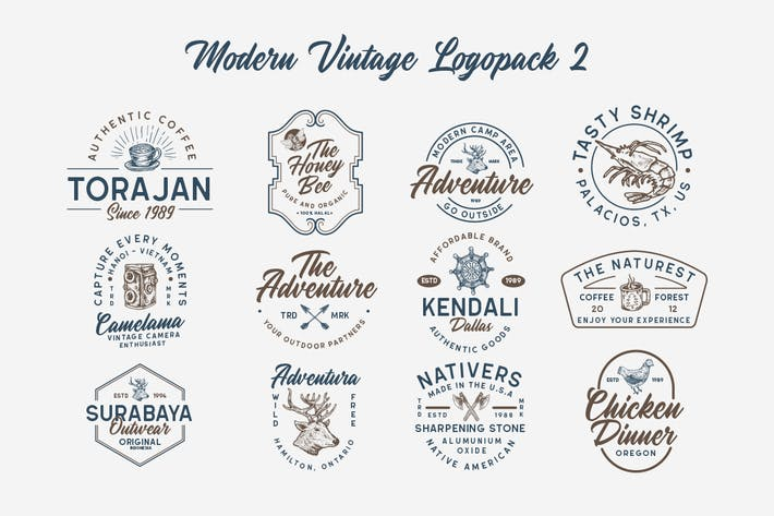 Thumbnail for Modern Vintage Logopack 02