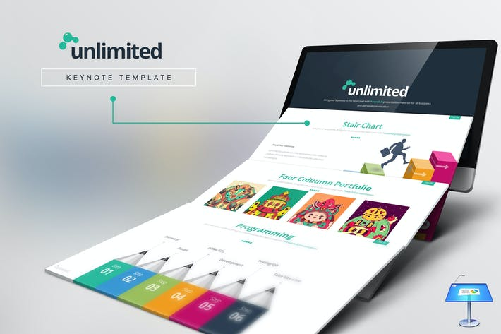 Thumbnail for Unlimited Keynote Template