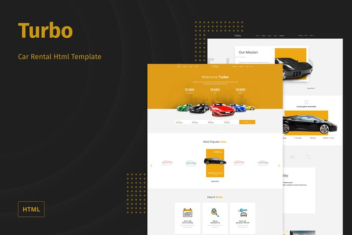 Thumbnail for Turbo - Car Rental HTML Template