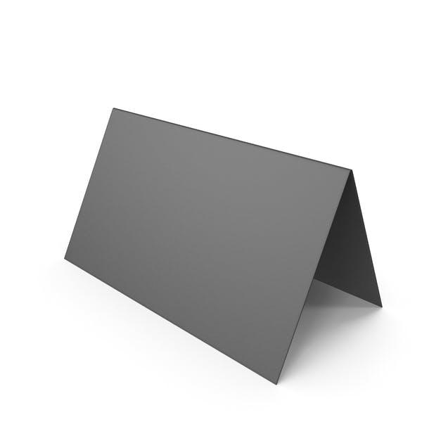 Schwarzes Schreibtisch-Banner