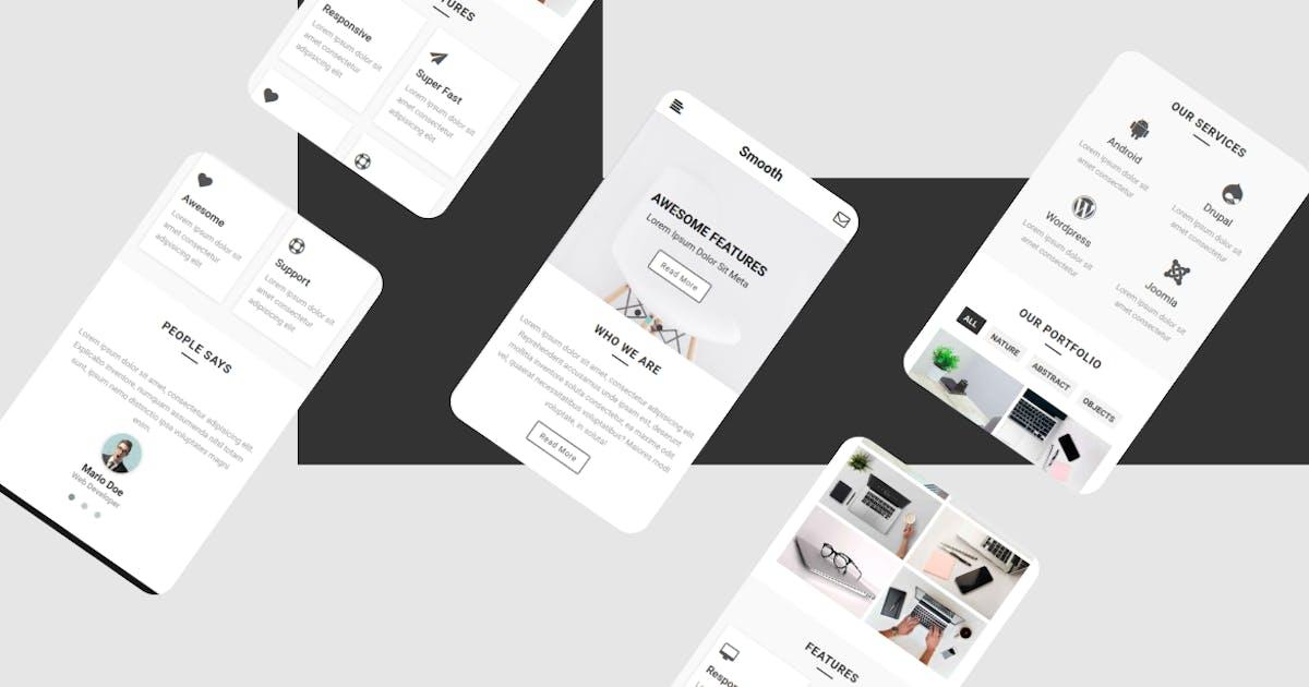 Download Smooth | Mobile Web UI Template by rabonadev