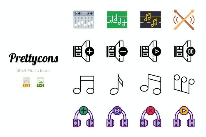 Cover Image For Prettycons - 200 Music Icons Vol.1