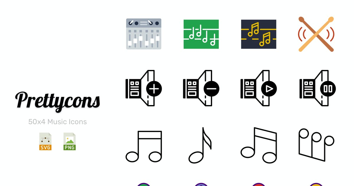 Download Prettycons - 200 Music Icons Vol.1 by Prettycons