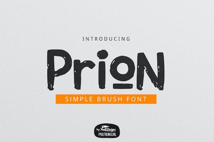 Thumbnail for Prion Brush Font