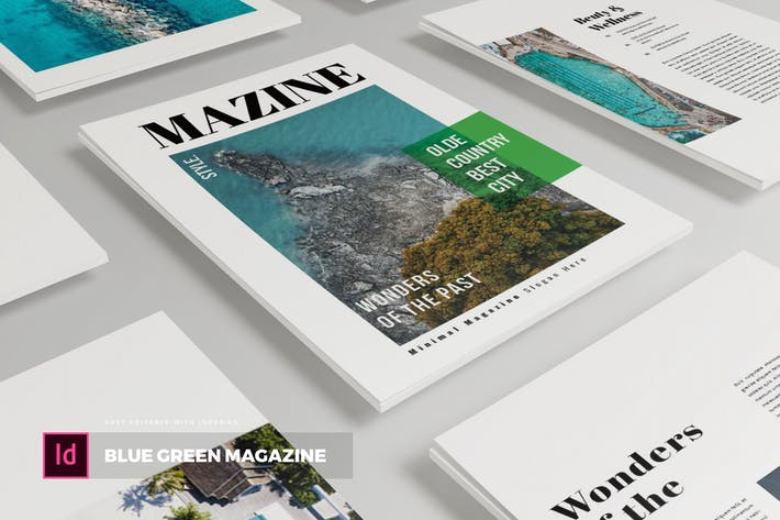 Thumbnail for Blue Green | Magazine Template