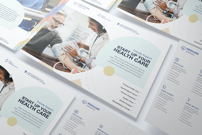 Thumbnail for Medical, Health Care A5 Business Flyer