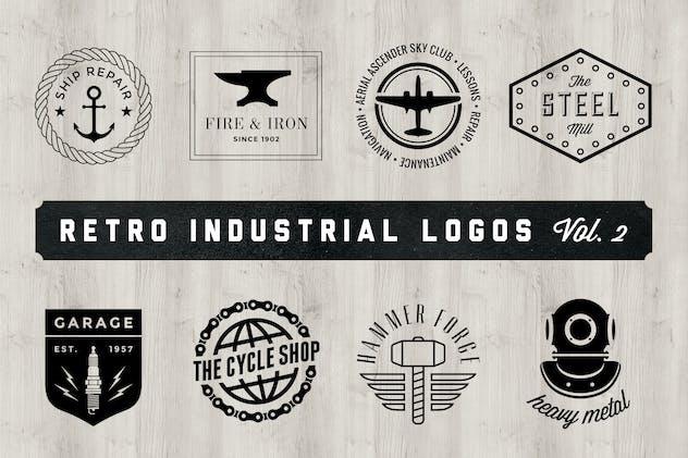 Retro Industrial Logos - Volume 2