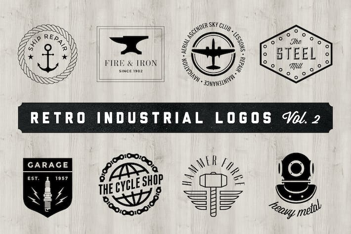 Cover Image For Retro Industrial Logos - Volume 2
