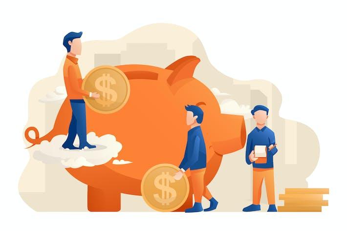 Thumbnail for Saving Money - Vector Illustration