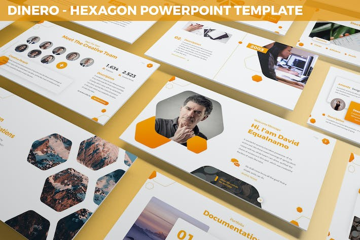 Thumbnail for Dinero - Hexagon Powerpoint Template