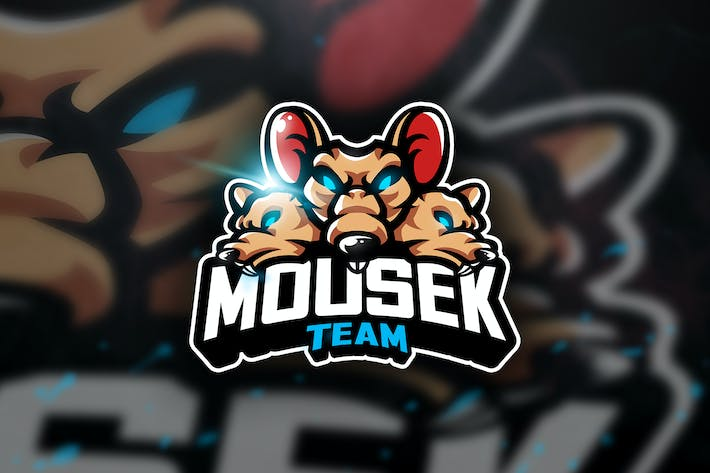 Cover Image For Mousek Team - Mascot & Sports Logo