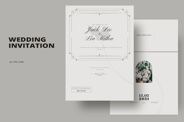 Thumbnail for Einfache Hochzeitseinladung