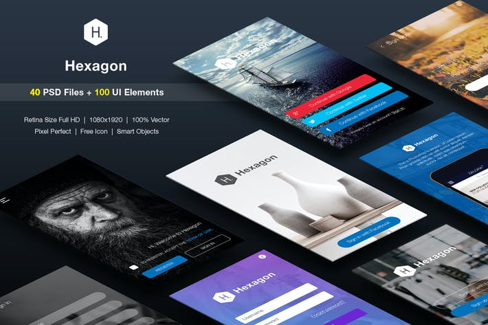 Cover Image For SignUp / Login - Mobile Form UI kit