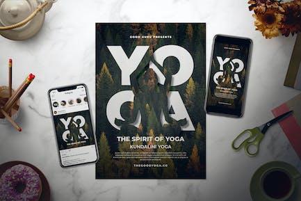 Yoga Flyer Set
