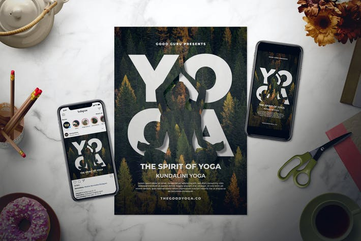 Thumbnail for Yoga Flyer Set