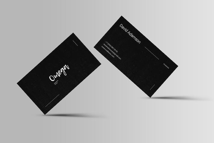 Cover Image For Omega Business Card Template