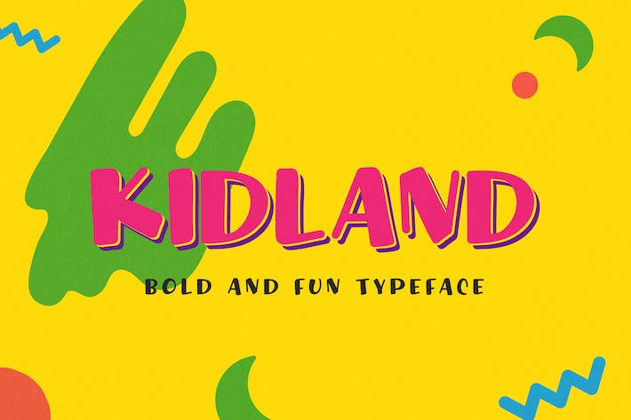Thumbnail for Kidland - Bold And Fun Typeface
