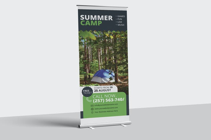 Thumbnail for Camping Adventure Roll-Up Banner