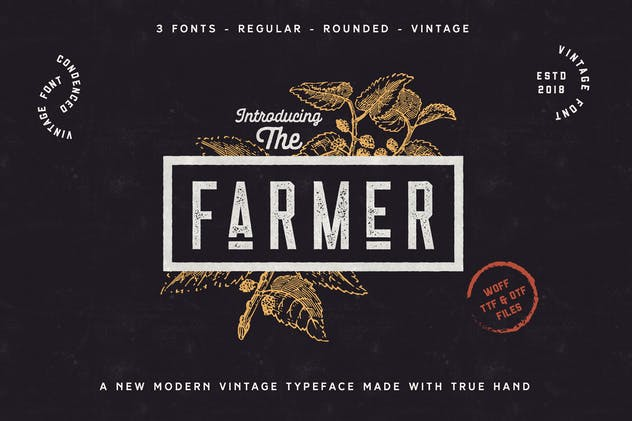 The Farmer Font - Condensed Typeface - product preview 0