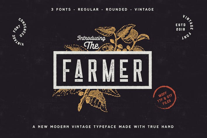 Cover Image For The Farmer Font - Condensed Typeface