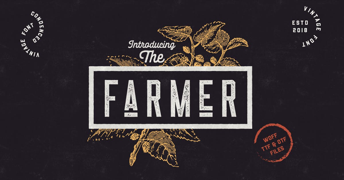Download The Farmer Font - Condensed Typeface by NEWFLIX