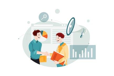Affiliate Marketing Illustration concept.