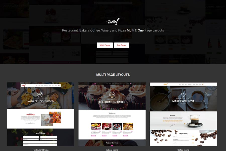 Butter - Restaurant, Bakery, Coffee HTML Template