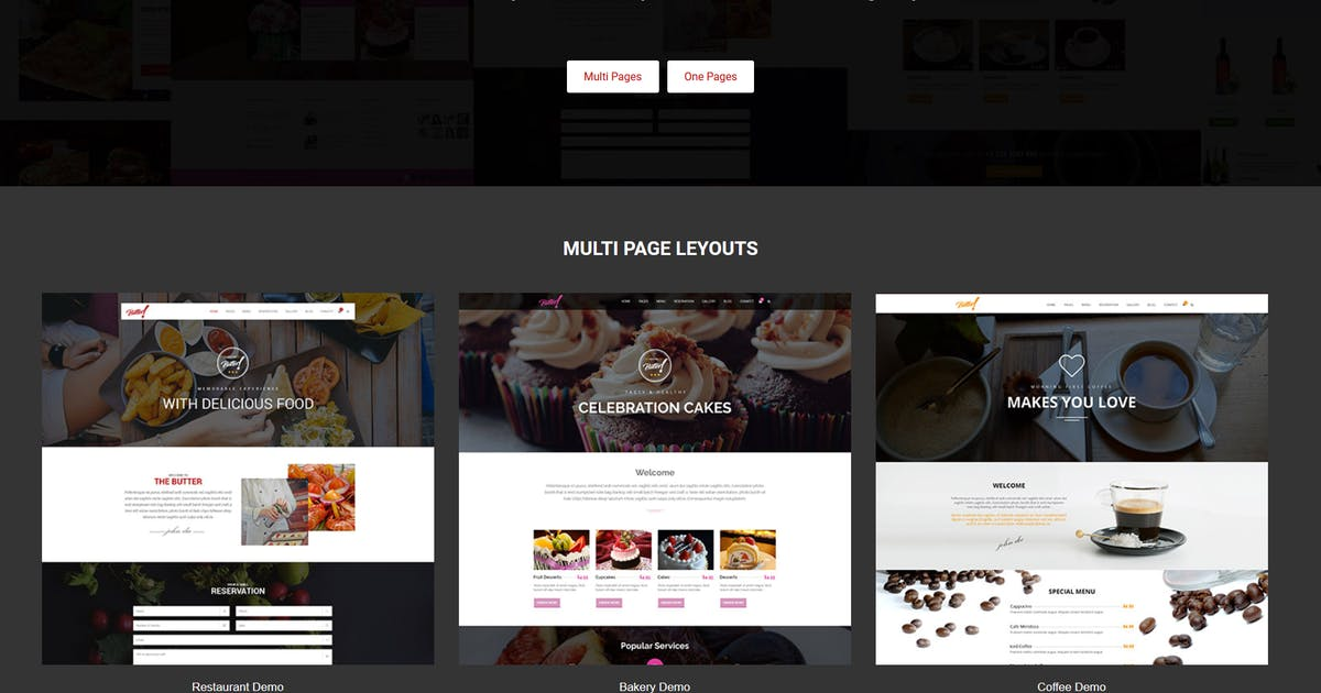 Download Butter - Restaurant, Bakery, Coffee HTML Template by uxliner